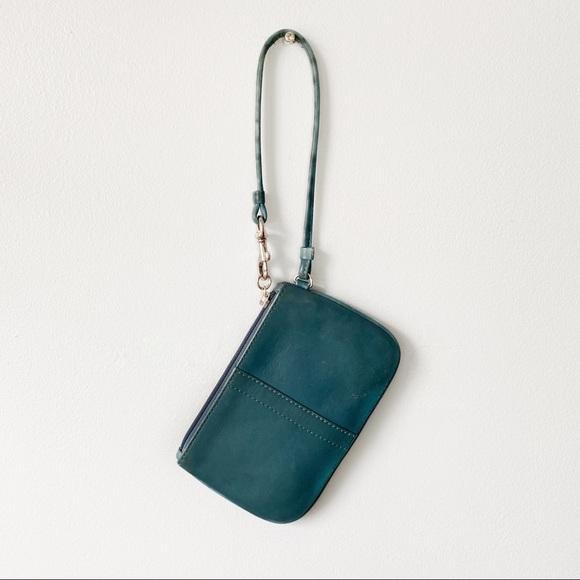 Coach Handbags - COACH Teal Wristlet